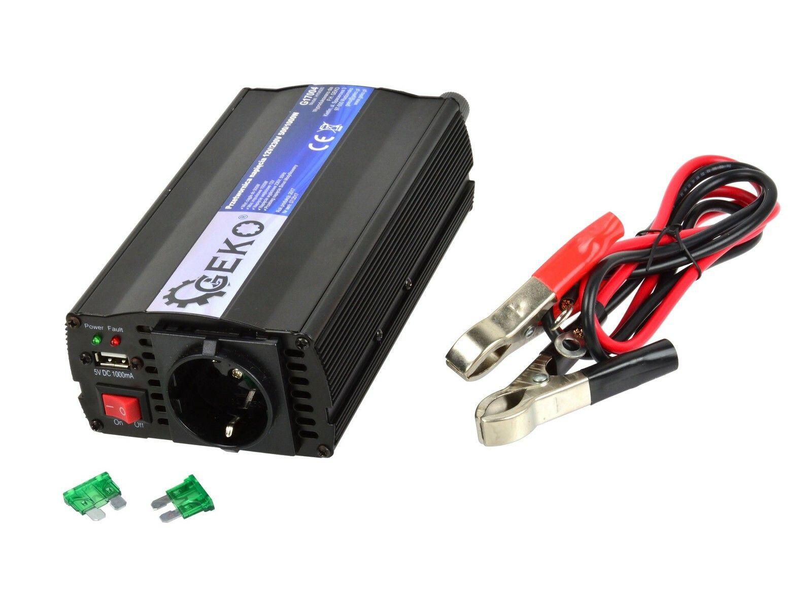 Měnič napětí 12V/230V, 500/1000W