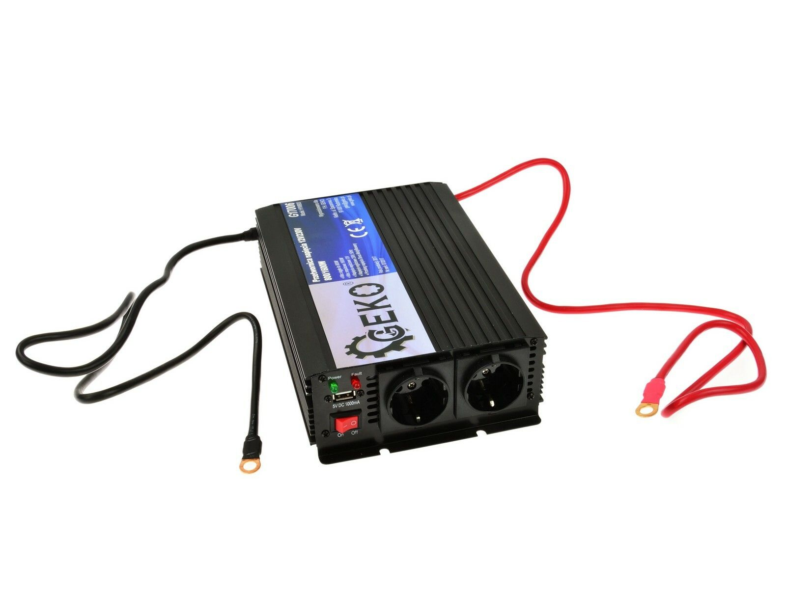 Měnič napětí 12V/230V, 800/1600W