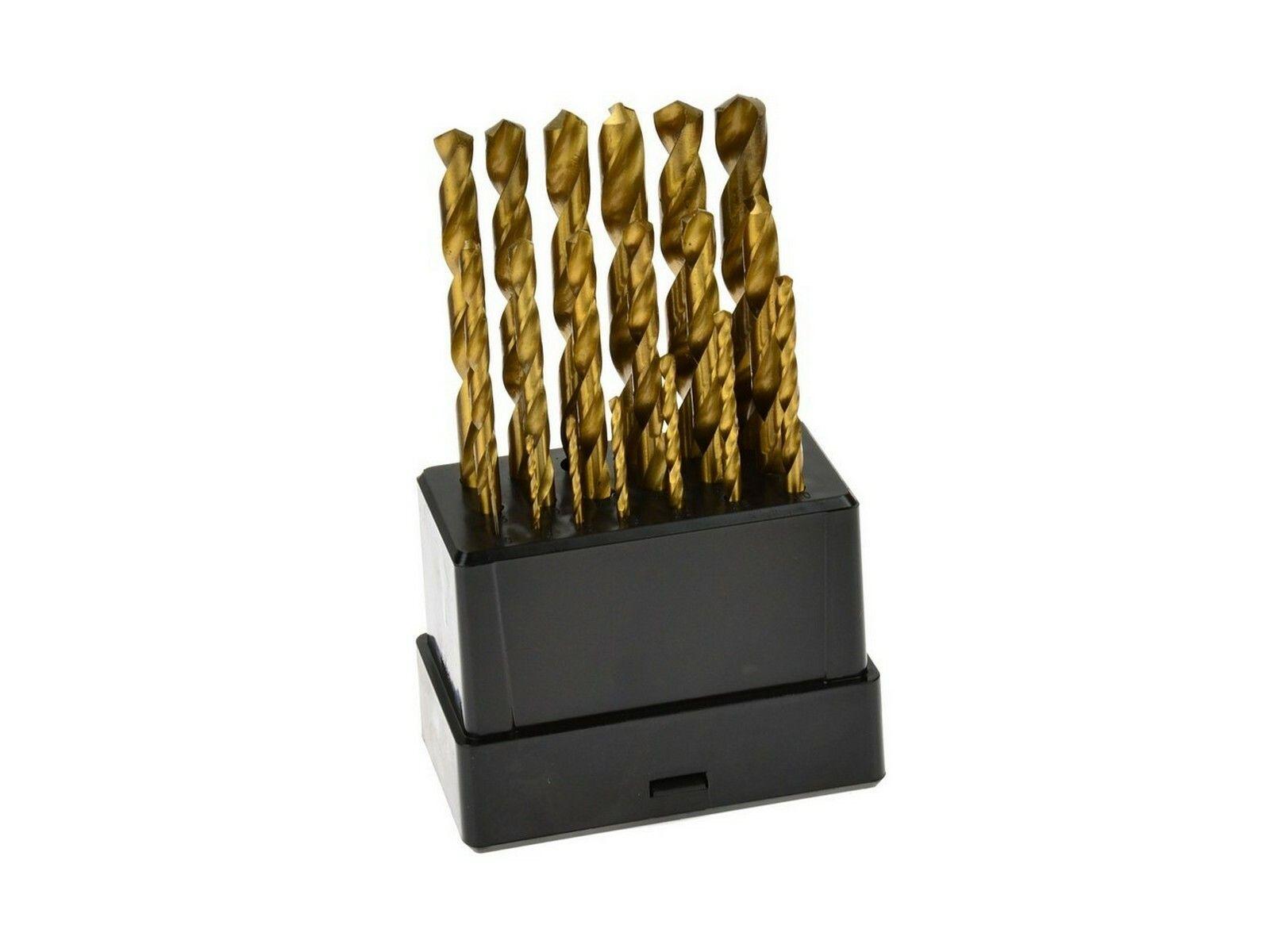 Vrtáky do kovu, sada 19ks, 1-10mm, po 0,5mm, leštěné