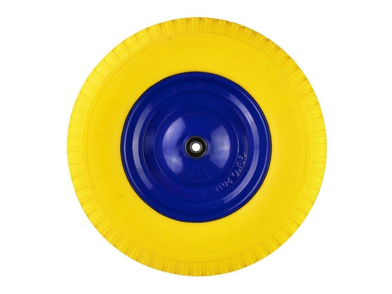 Gumové kolo do vozíku žluté, 400x95mm, GEKO