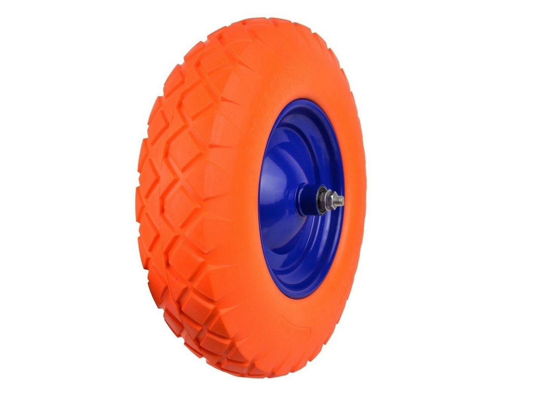Gumové kolo do vozíku oranžové, 400x95mm, GEKO