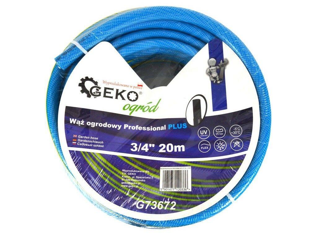 "Hadice zahradní PROFESSIONAL PLUS modrá 3/4"", 20 m, GEKO"
