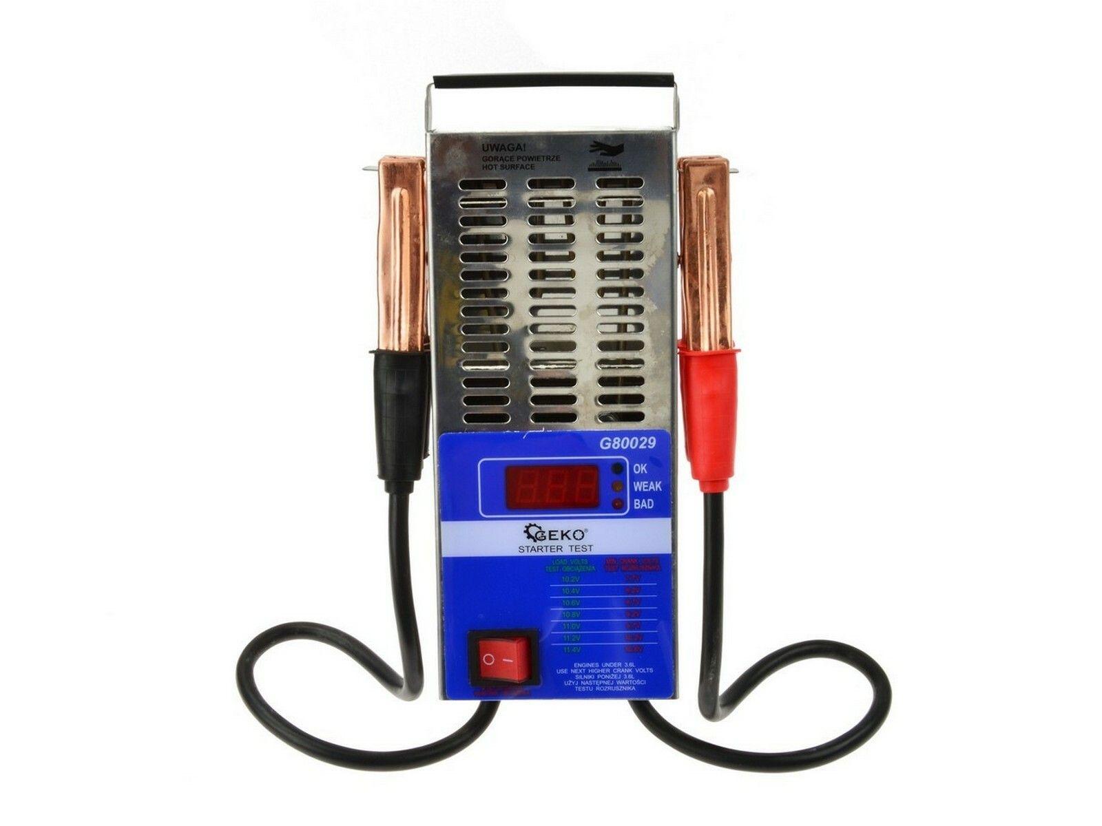 Tester autobaterie zátěžový LED, GEKO, G80029
