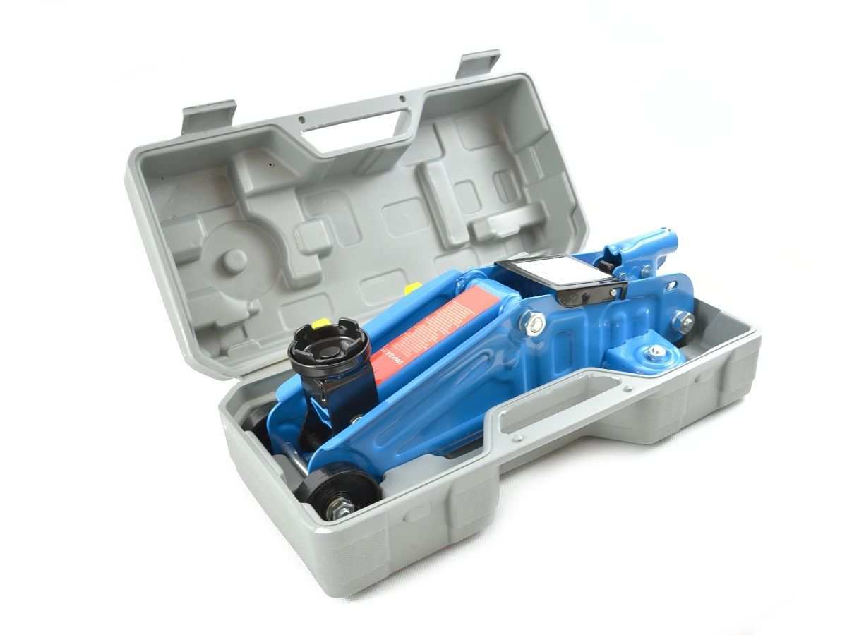 Hever hydraulický pojízdný 2 t, baleno v kufru, HEIDMANN