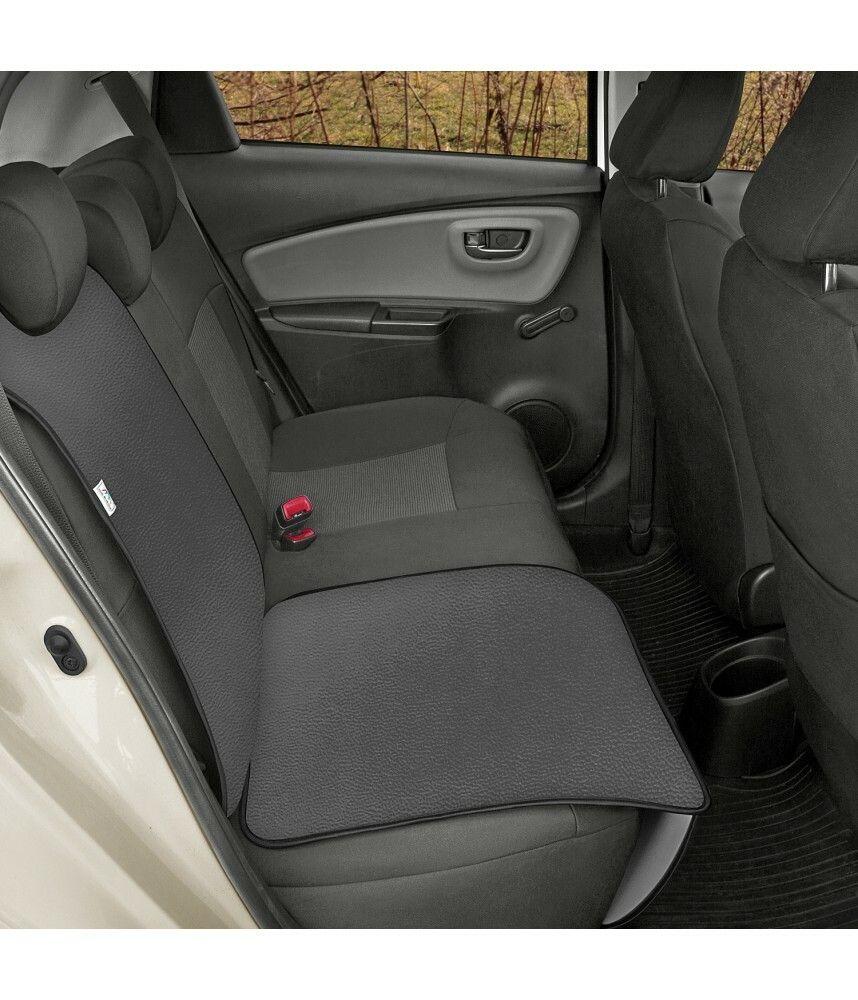 Ochranná podložka pod autosedačku pro přepravu dětí JUNIOR Artificial Leather šedá
