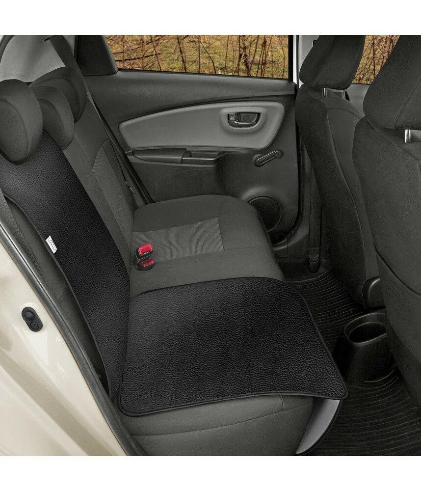 Ochranná podložka pod autosedačku pro přepravu dětí JUNIOR Artificial Leather černá
