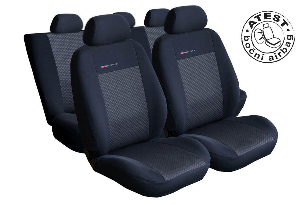 Autopotahy Škoda Fabia III, KOMBI, od r.2014, dělené zadní opěradlo a sedadlo, černé