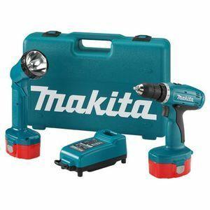 Aku vrtací šroubovák Makita 6271DWPE, 12V s aku svítilnou ML120, 12V