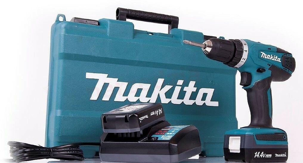 Aku vrtací šroubovák Makita DF347DWE, 14,4V, 2x baterie, nabíječka, kufr