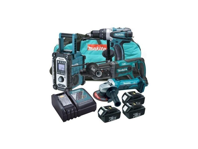 Makita DLX4008 aku sada, 4ks, 3x baterie, nabíječka, taška