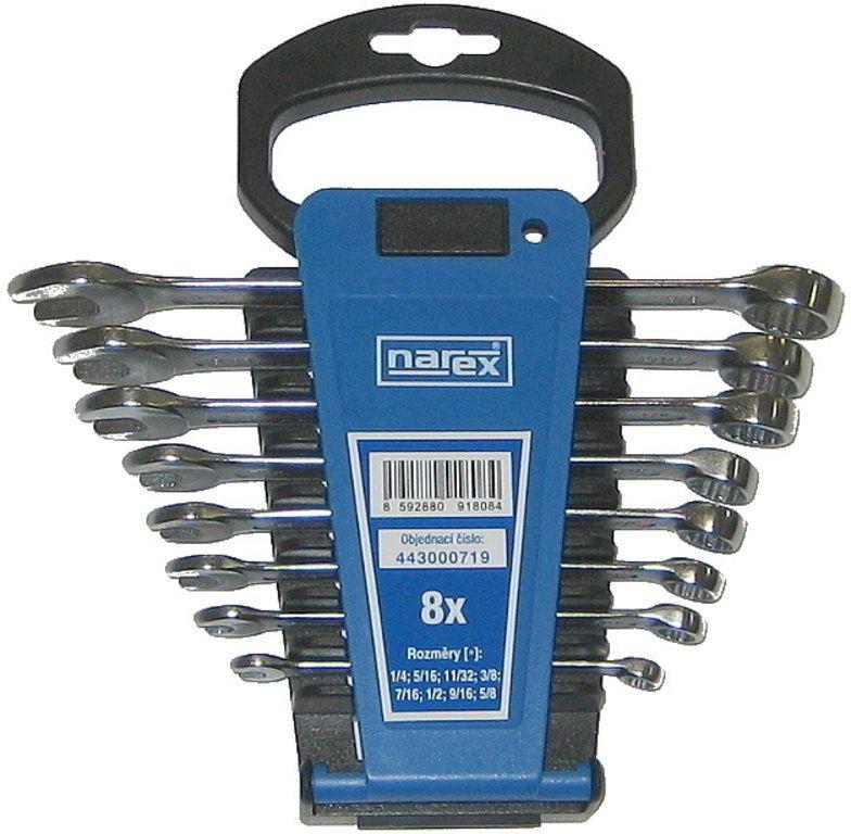 Sada klíčů 8dílná inch očkoplochých plast. držák 3113.608, NAREX 443000719