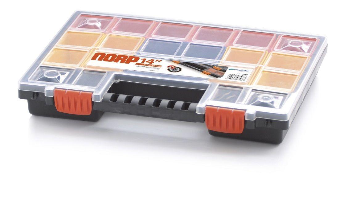 Plastový organizér 22 barevných přihrádek NORP 344x249x50
