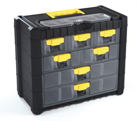 Plastový organizér na nářadí závěsný MULTICASECARGO 400x200x326, 7 zásuvek