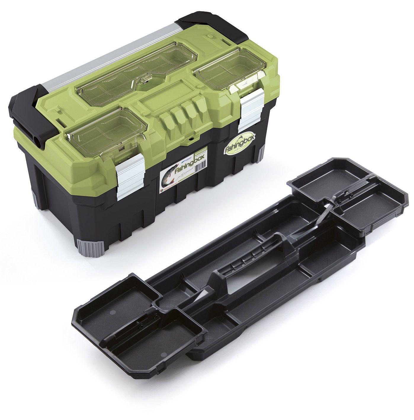 """Plastový kufr, rybářský box 22"""", nosnost 20 kg, FISHINGBOX"""
