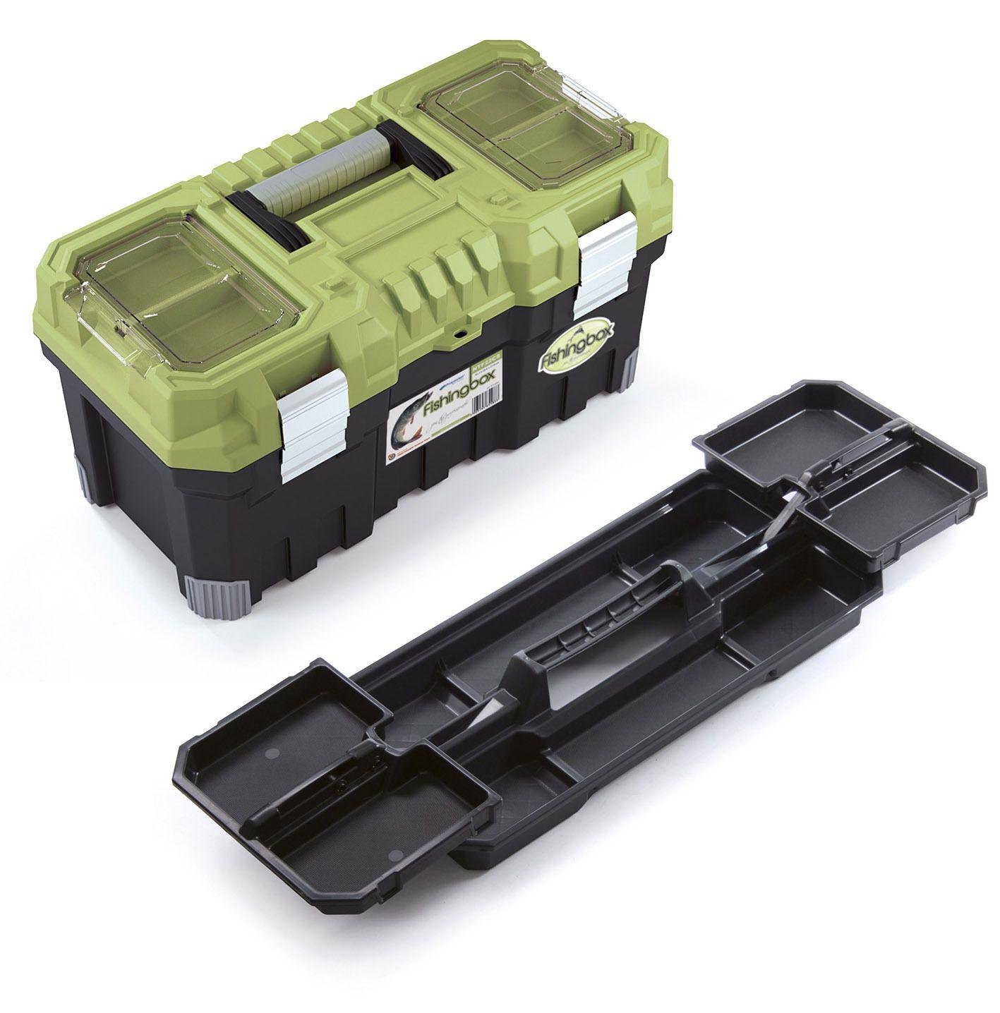 """Plastový kufr, rybářský box 22"""", nosnost 15 kg, FISHINGBOX"""