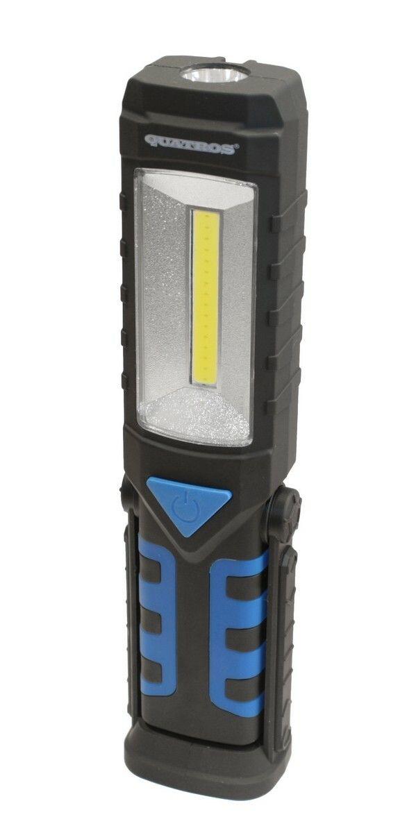 Dílenská lampa LED COB 3W+1LED, svítilna s magnetem