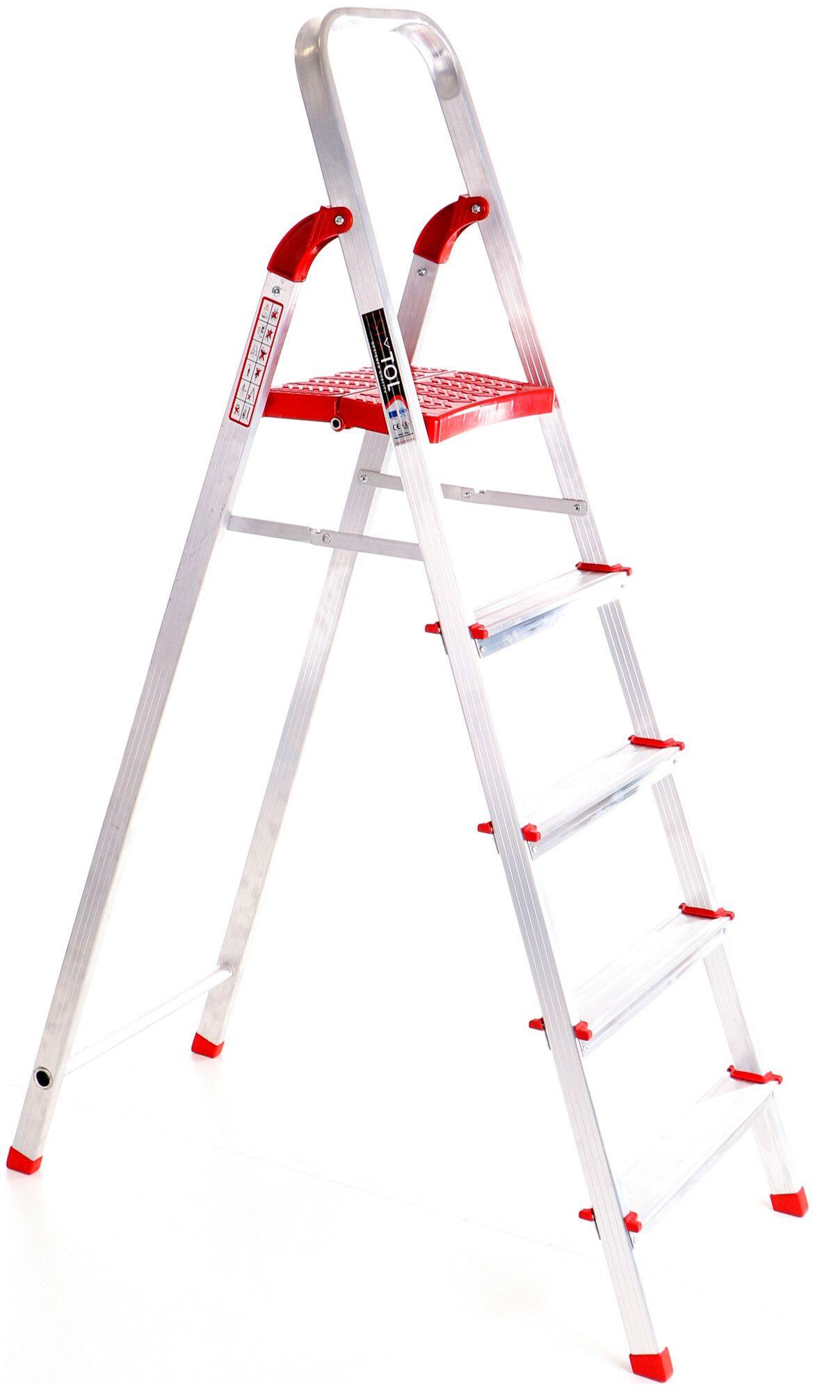 Schůdky hliníkové skládací ALU STEPS 5, 5 stupňů, nejvyšší schůdek 106 cm, nosnost 120 kg