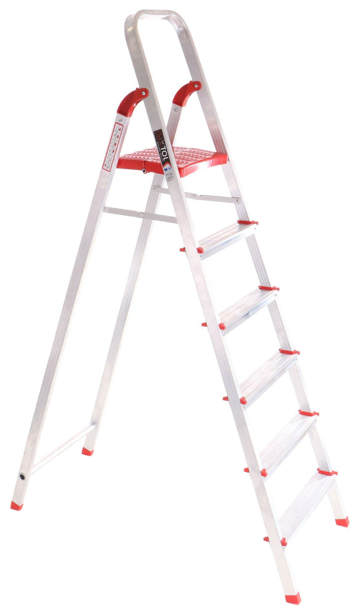 Schůdky hliníkové skládací ALU STEPS 6, 6 stupňů, nejvyšší schůdek 130 cm, nosnost 120 kg