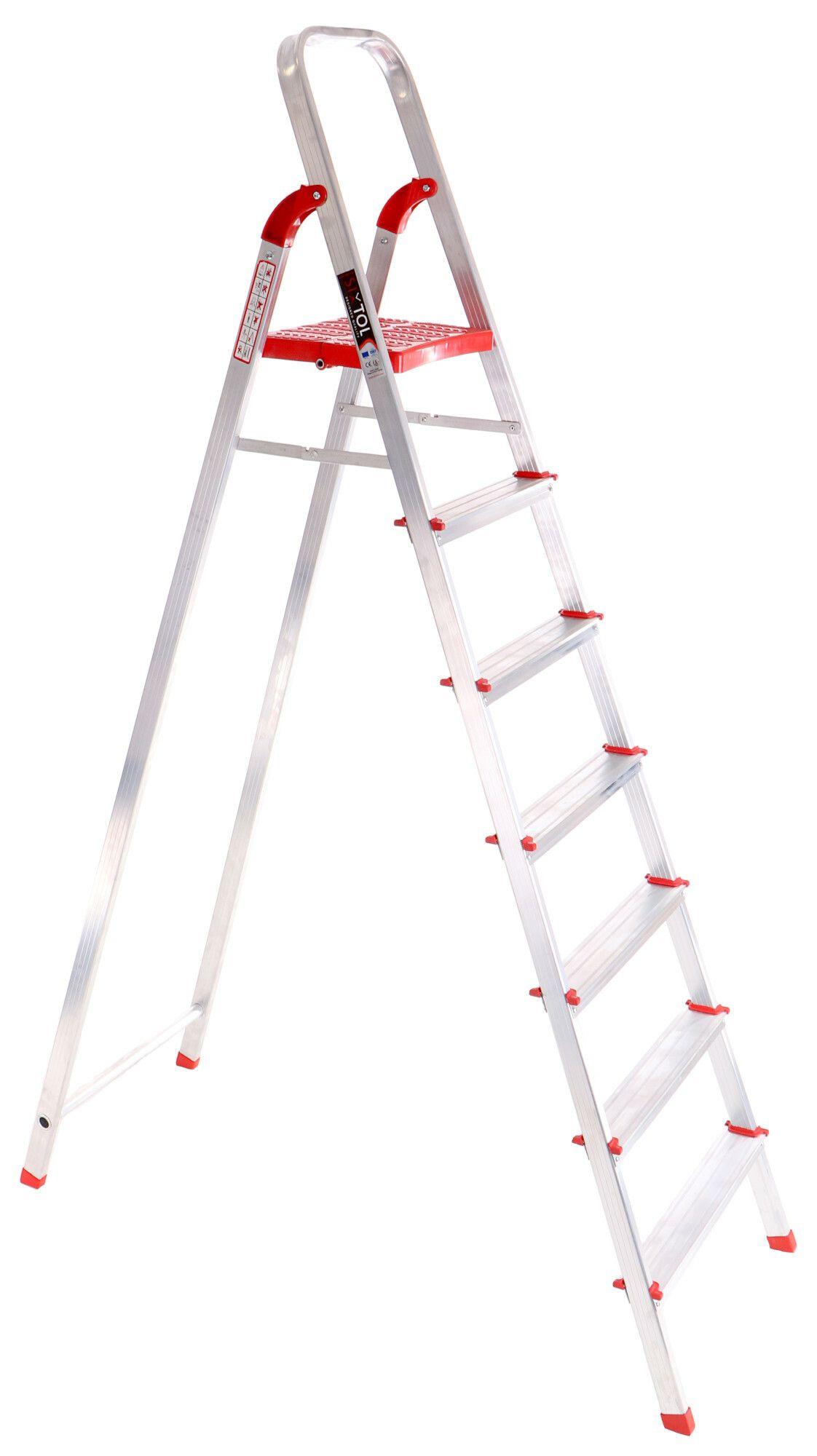 Schůdky hliníkové skládací ALU STEPS 7, 7 stupňů, nejvyšší schůdek 153 cm, nosnost 120 kg