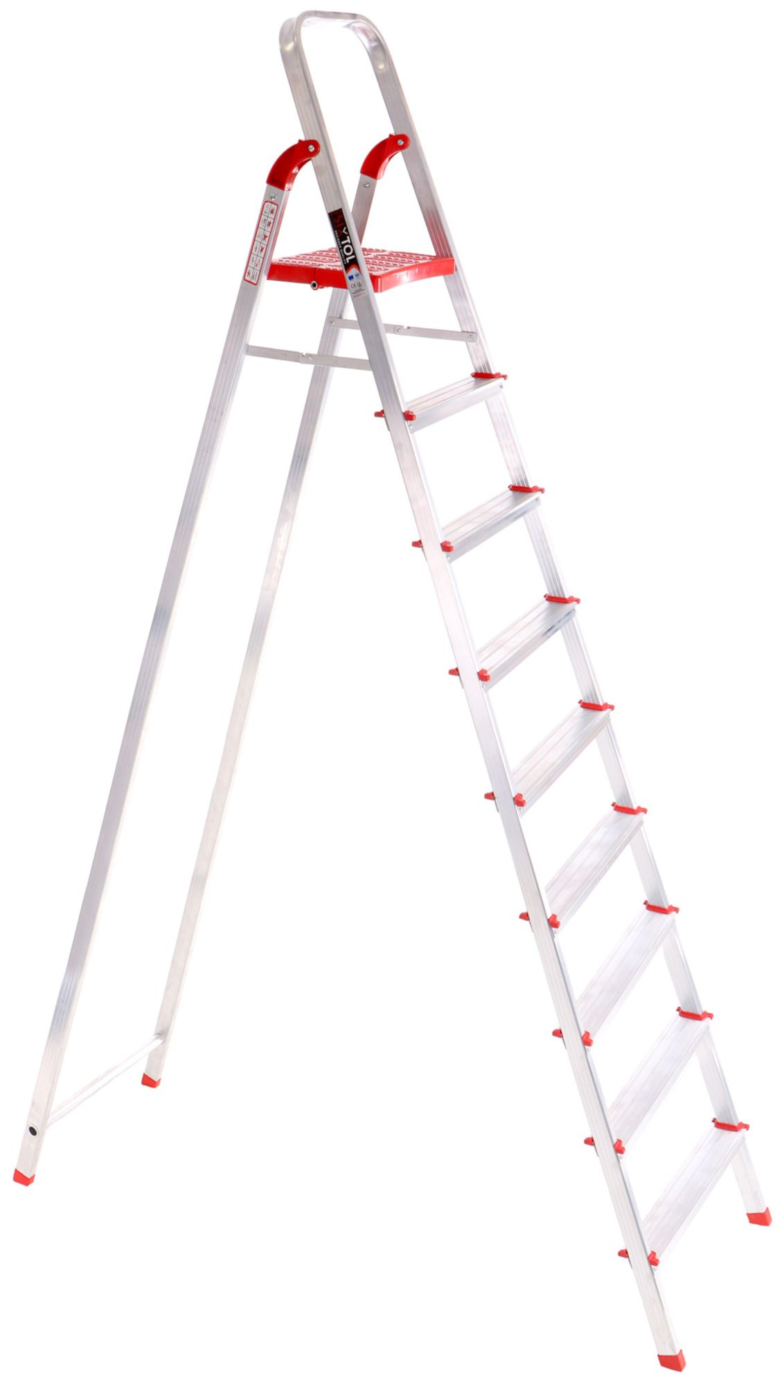 Schůdky hliníkové skládací ALU STEPS 9, 9 stupňů, nejvyšší schůdek 200 cm, nosnost 120 kg