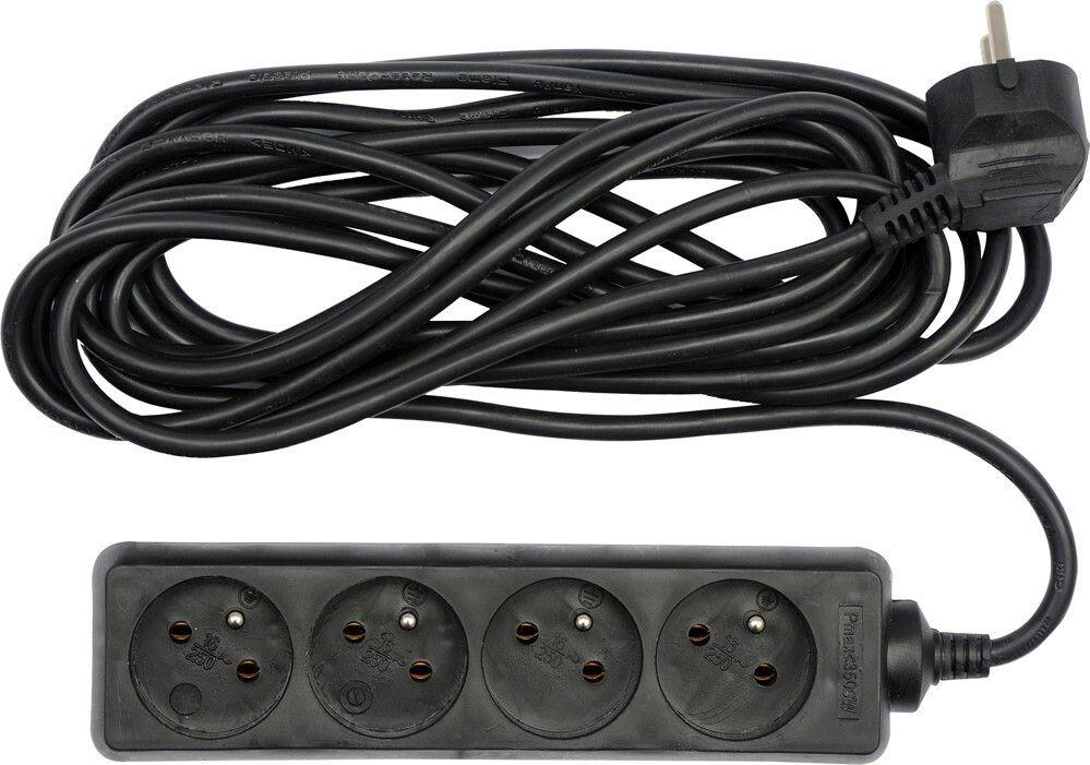 Kabel prodlužovací 1,5 m 4 zásuvky