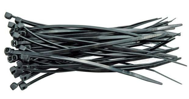 Páska stahovací 370 x 4,8 mm 100 ks černá
