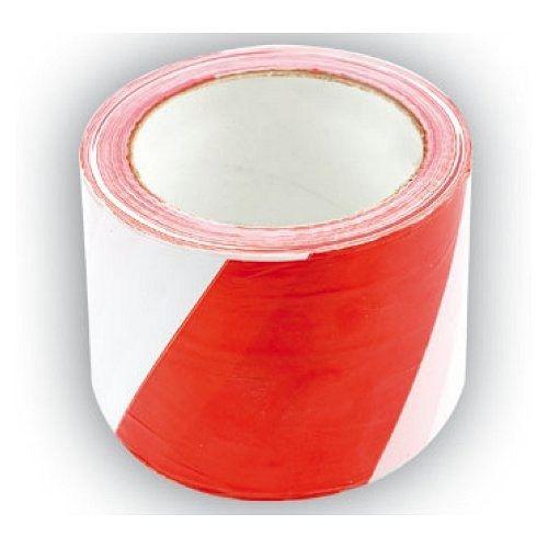 Páska výstražná dvoubarevná 75 mm x 100 m