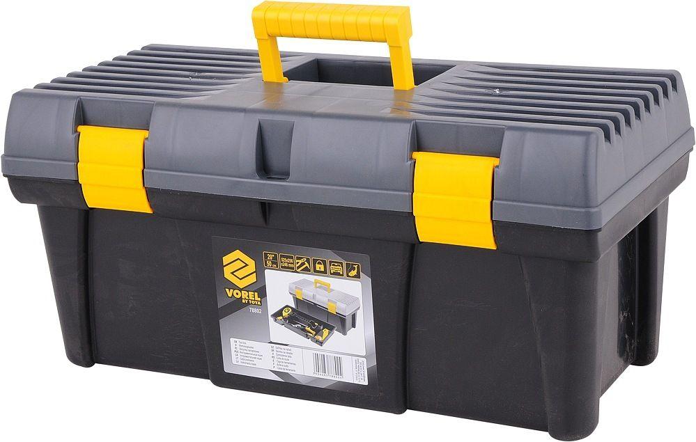 """Box na nářadí plastový 20"""" 2 zámky šedé víko"""