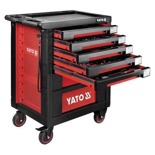 Pojízdná dílenská skříňka s nářadím, 189ks, 7 zásuvek, YATO-55292