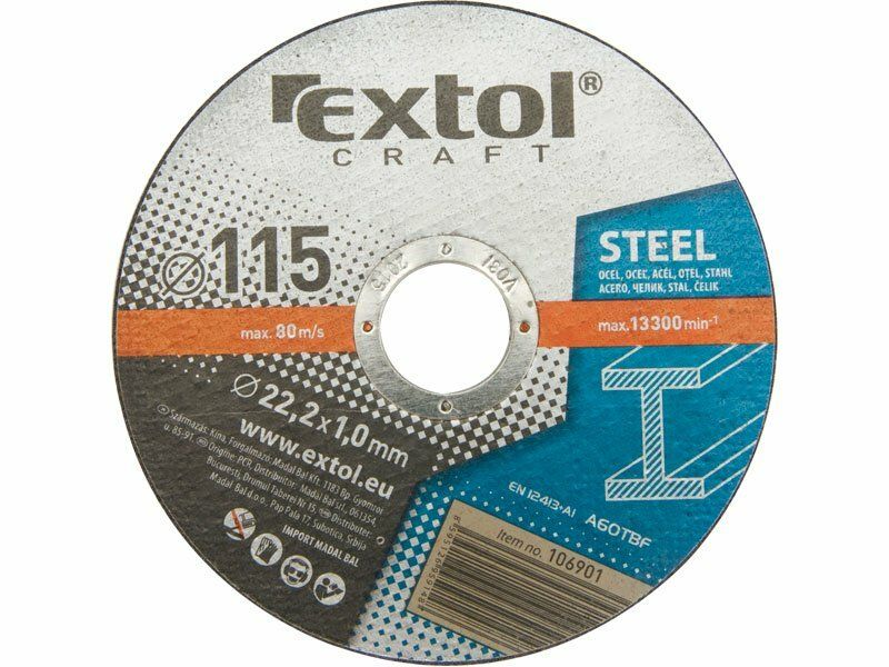 Kotouče řezné na kov, 5ks, 115x1,6x22,2mm