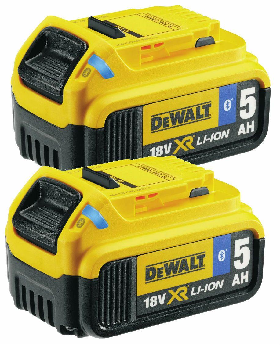 Dewalt 18 V XR 2 x zásuvný akumulátor 5,0 Ah Li-Ion Bluetooth ( 2 x DCB184B )