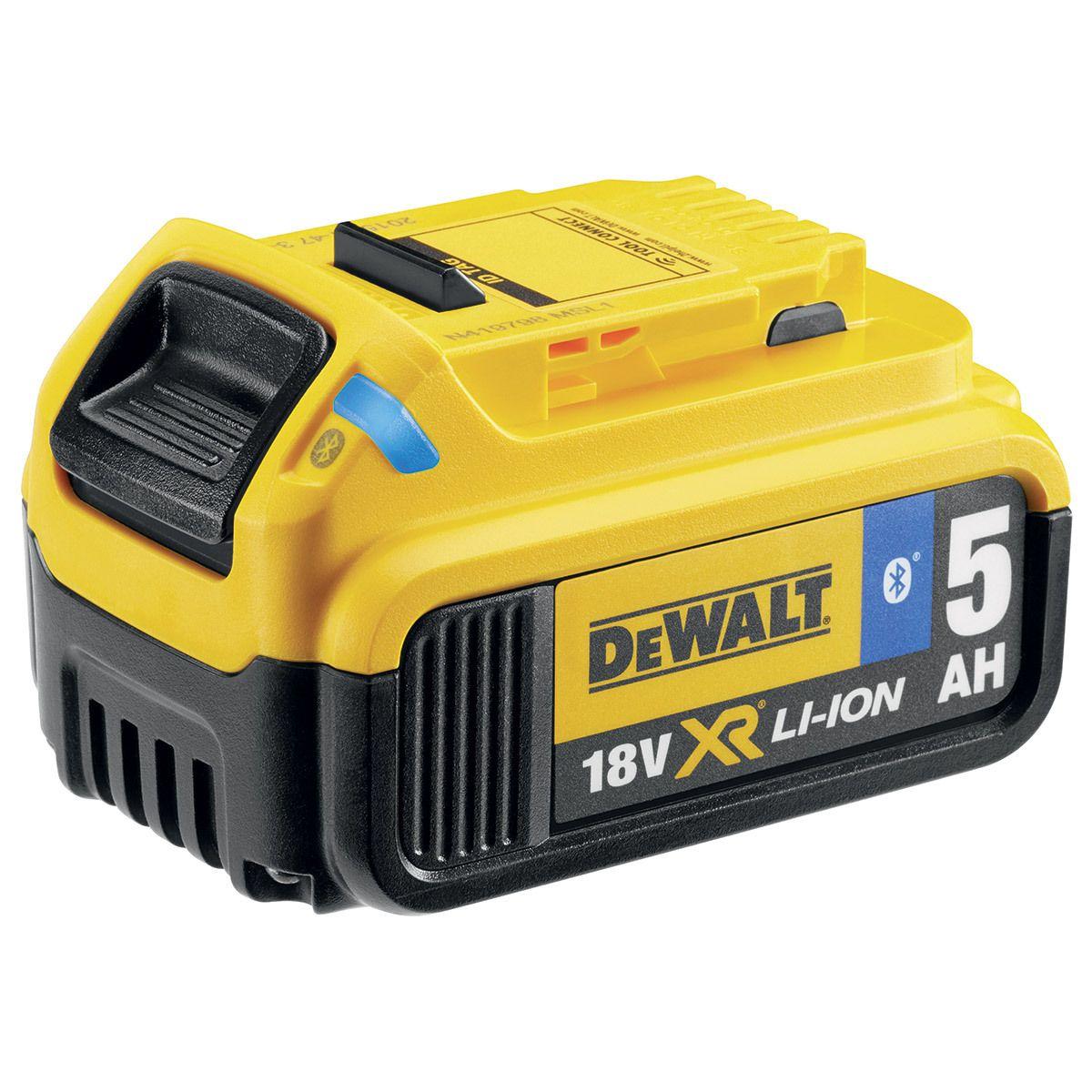 Dewalt 18 V XR Li-Ion 5,0 Ah zásuvný akumulátor s Bluetooth