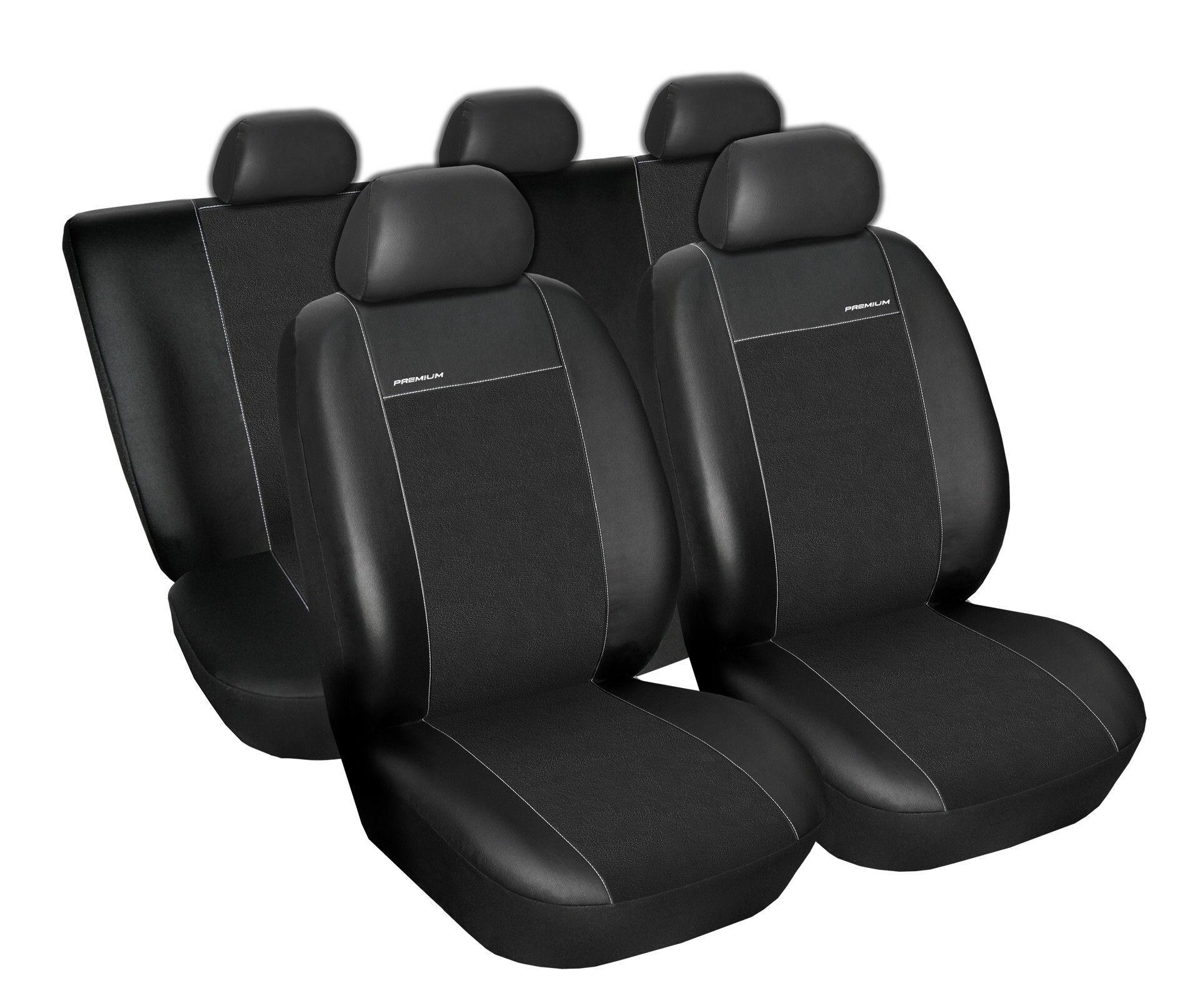 Autopotahy Audi A4 B6 sedan/kombi 00-04r., Eco kůže + alcantara černé