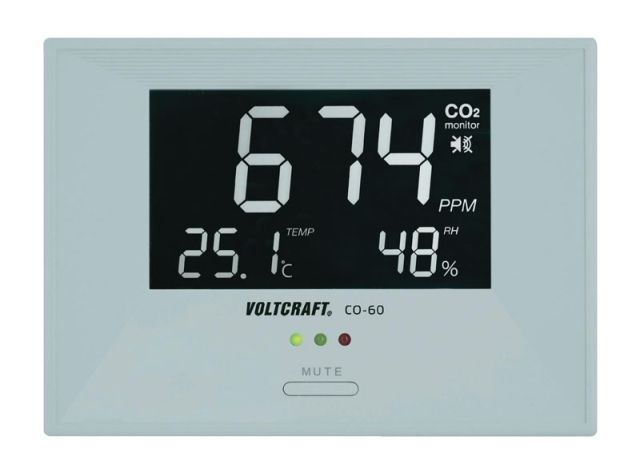 Digitální ukazatel klimatu v místnosti Voltcraft CO-60, CO2