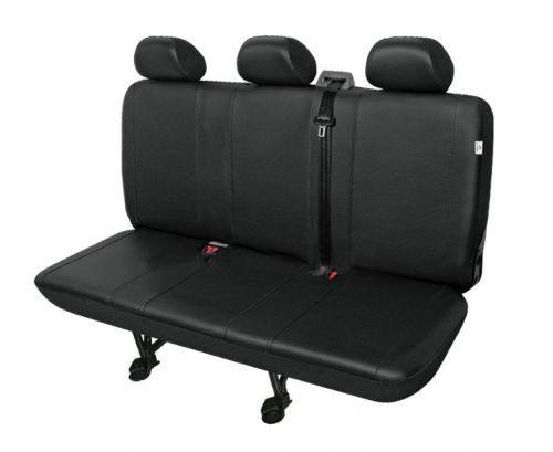 Autopotahy PRACTICAL DV dodávka - 3 sedadla, černé