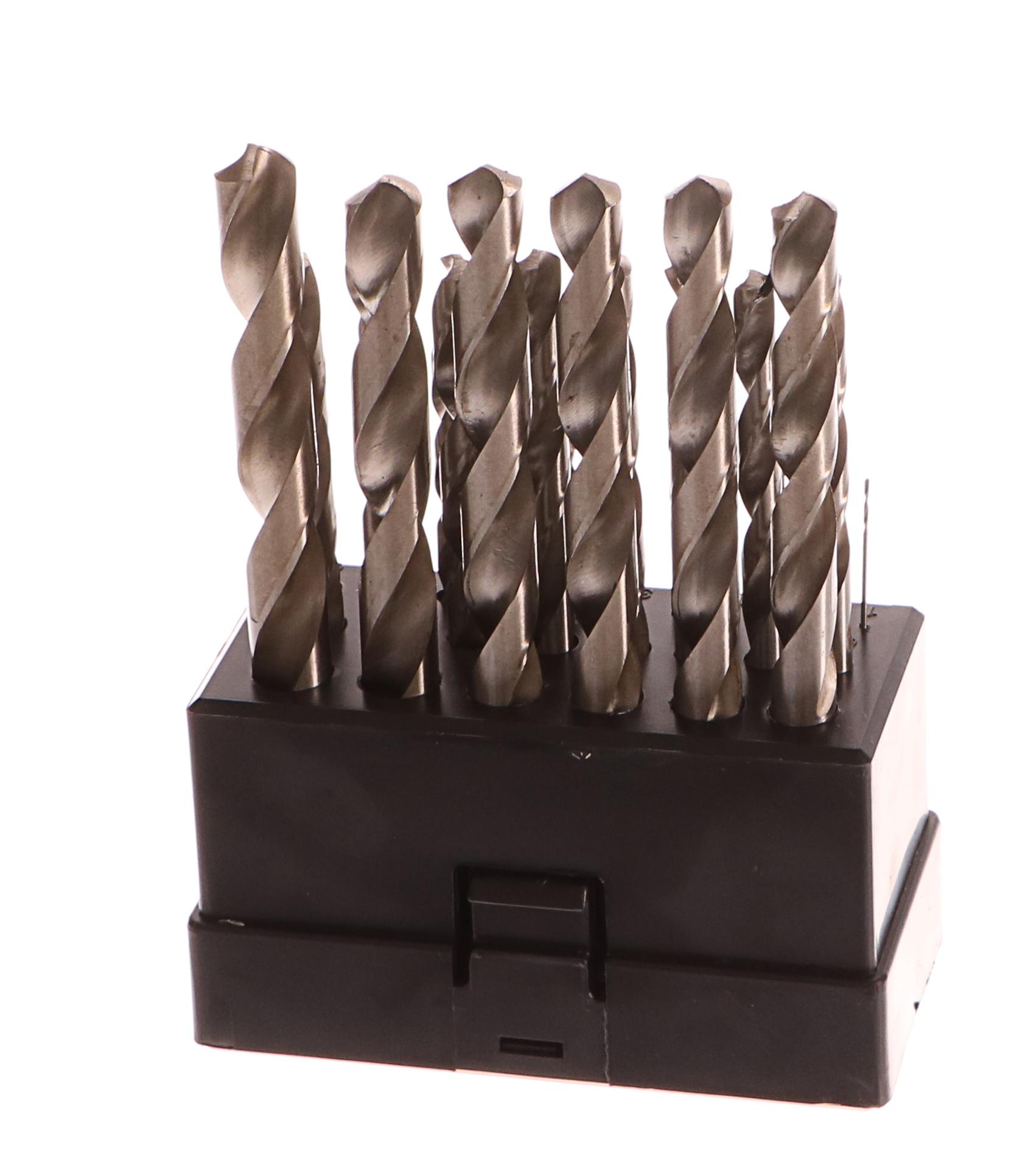 Vrtáky do kovu, sada 25ks, 1-13mm, po 0,5mm, HSS, GEKO PROFI