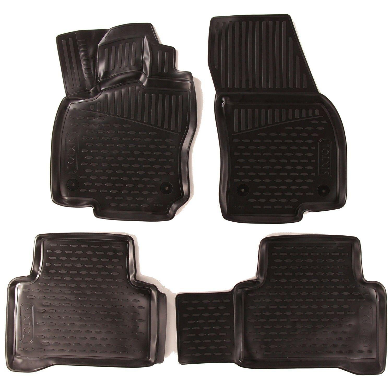 3D Gumové koberce VOLKSWAGEN Touran II, 2015->, 5 sedadel, minivan