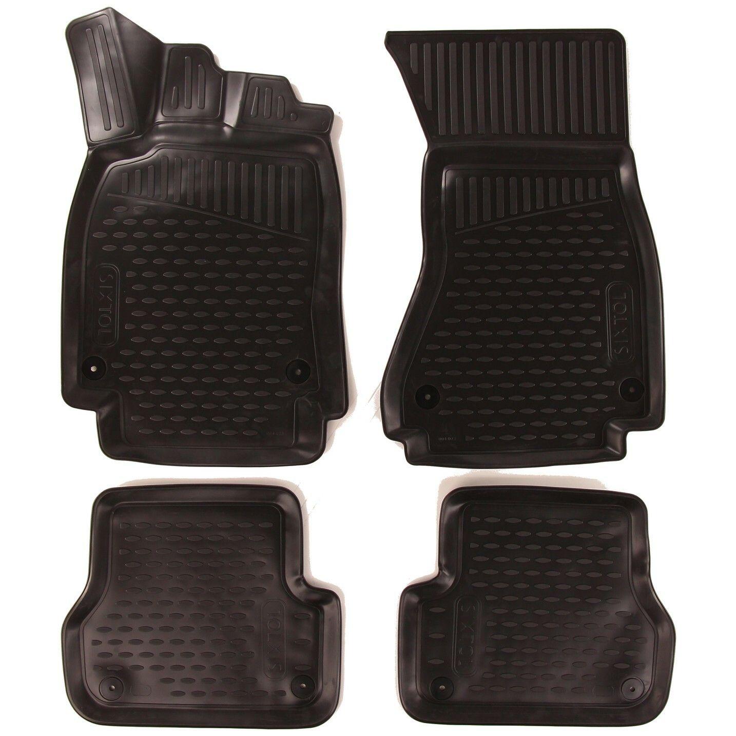 3D Gumové koberce AUDI A6, 2011->, sedan/bez přihrádky na rukavice