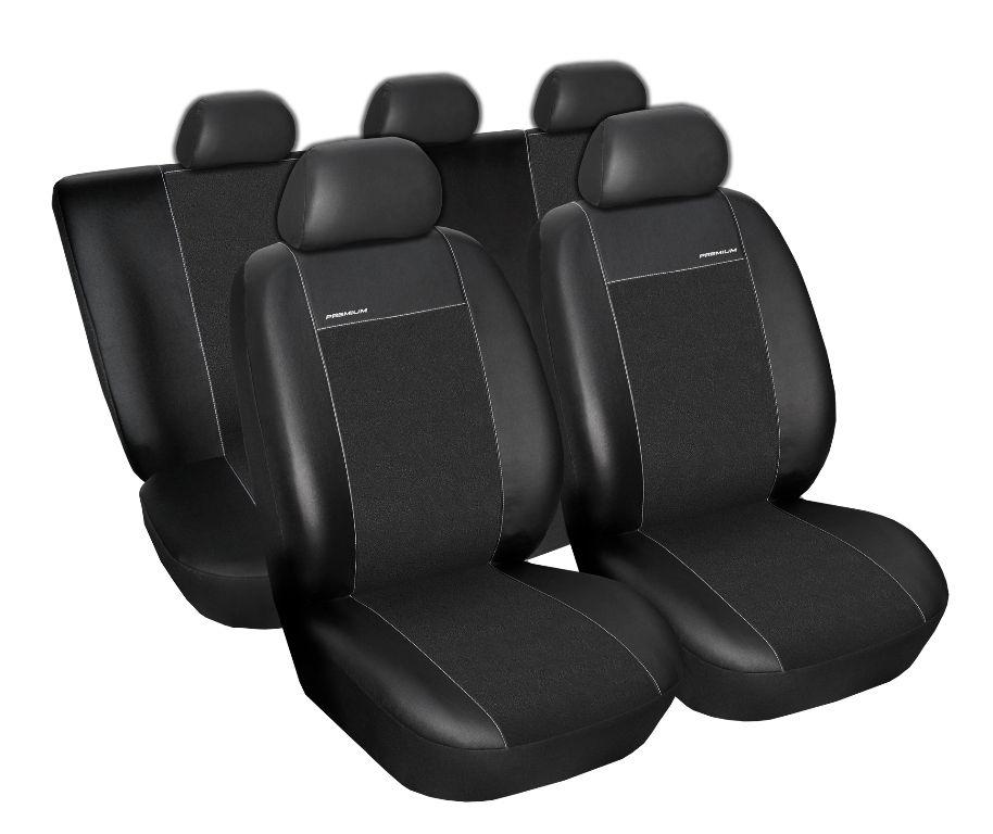 Autopotahy Škoda Fabia II, Eco kůže + alcantara černé
