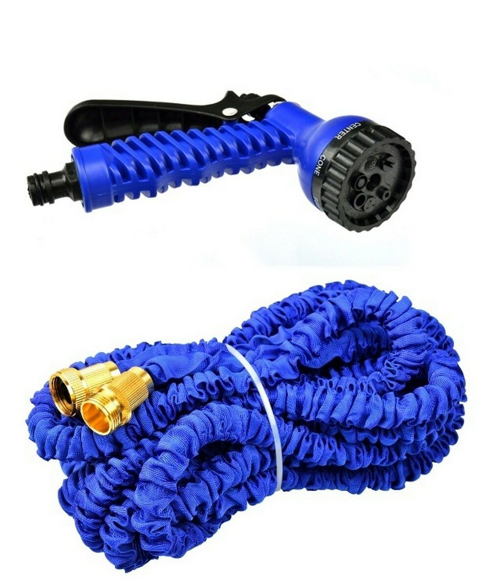 Zahradní hadice smršťovací, 7,5m-22,5m, 7 funkcí, dvojitý pletenec, GEKO