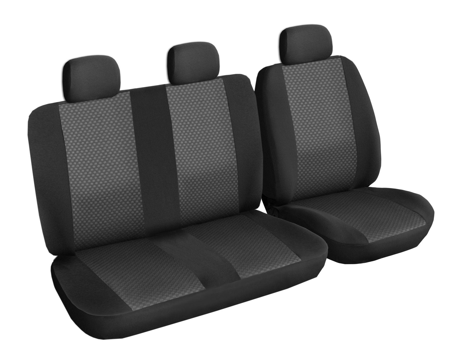 Autopotahy Volkswagen LT, 3 místa, od r. 1996-2006, černé