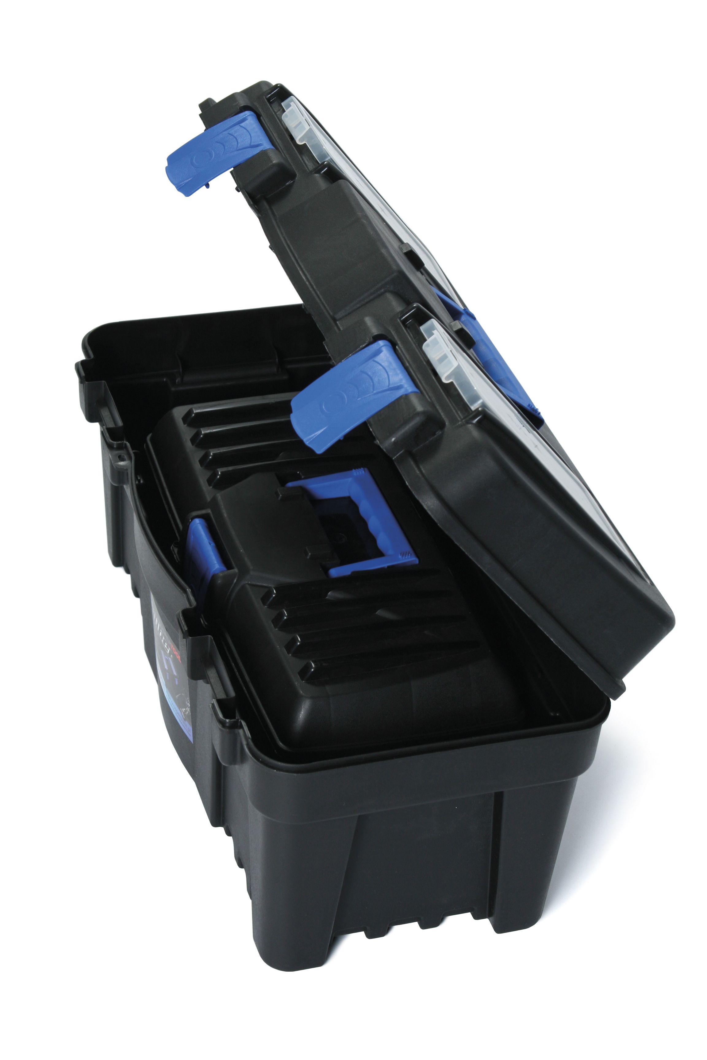 """Plastový kufr na nářadí 2v1 18"""", nosnost 6 + 11,5 kg, SETBOX"""