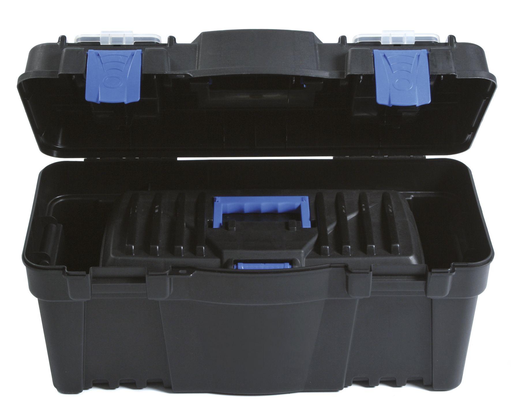 """Plastový kufr na nářadí 2v1 22"""", nosnost 6 + 19 kg, SETBOX"""
