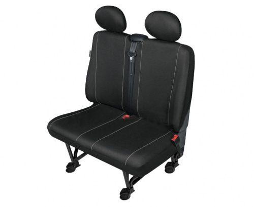 Autopotahy SOLID DV dodávka – 2 sedadla, černé