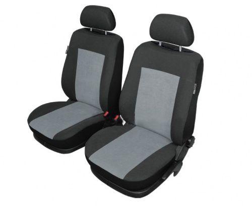Autopotahy STUTTGART na přední sedadla, šedočerné