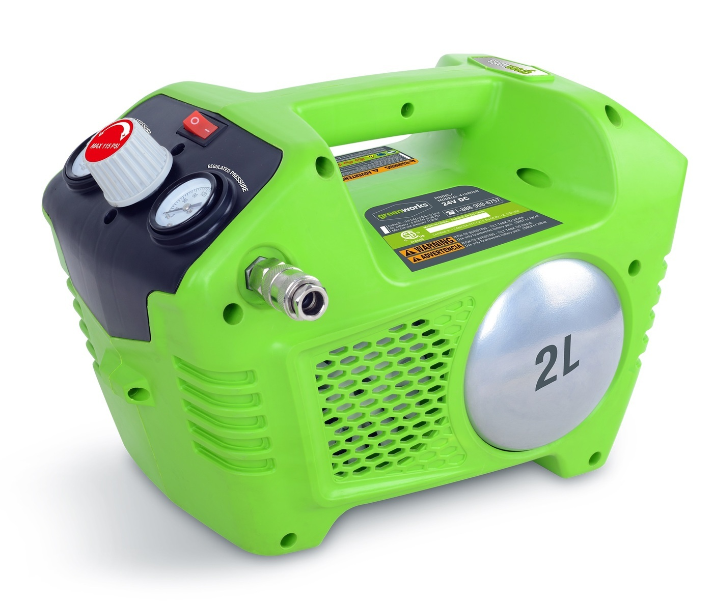 Aku kompresor bezolejový GWCO 40, Greenworks